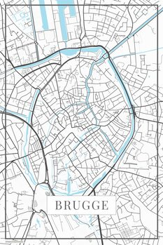 Map of Brugge white