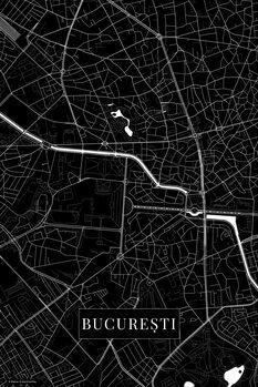 Map of Bucuresti black