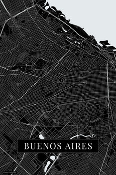 Map Buenos Aires black