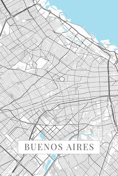 Map Buenos Aires white