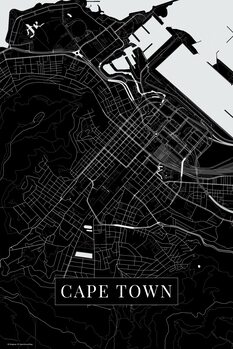 Map of Cape Town black