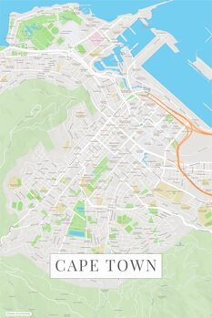 Map of Cape Town color