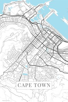 Map of Cape Town white