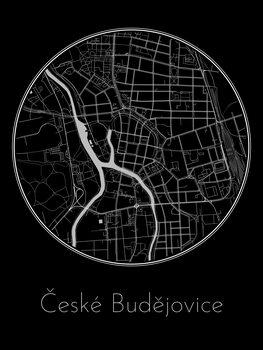 Map of České Budějovice