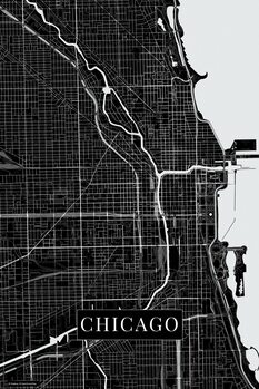 Map of Chicago black