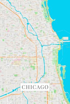 Map of Chicago color