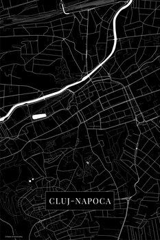 Map Cluj Napoca black