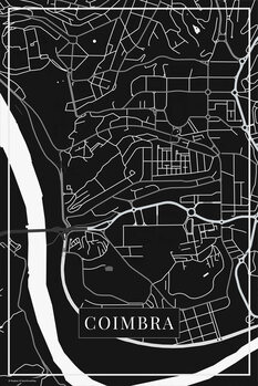 Map of Coimbra black