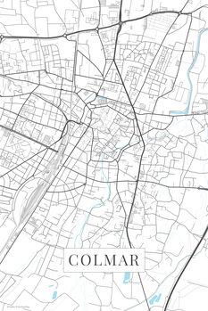 Map Colmar white