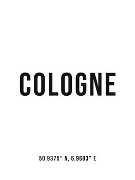 Illustration Cologne simple coordinates