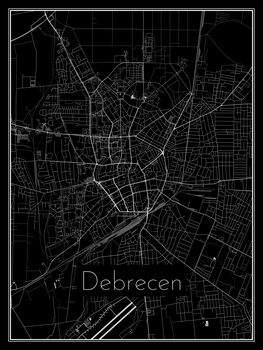 Map of Debrecen