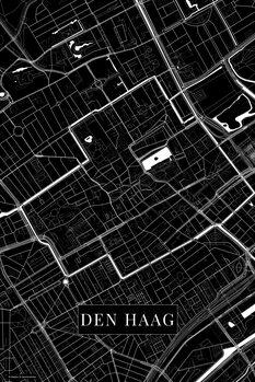 Map of Den Haag black