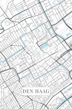 Map of Den Haag white