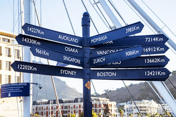 Art Print on Demand Direction Sign from Cape Town
