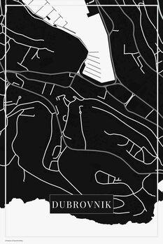 Map Dubrovnik black