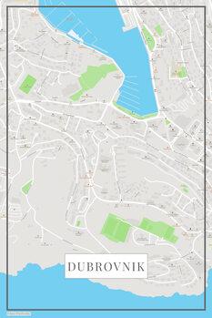Map of Dubrovnik color