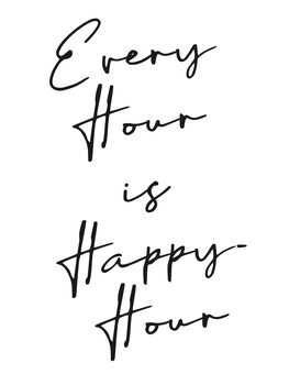 Illustration Every hour is happy hour