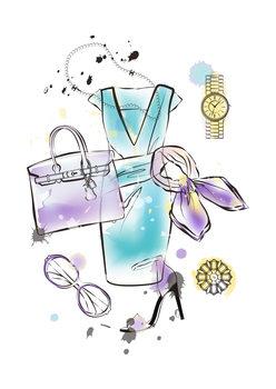 Illustration Fashion Flatlay