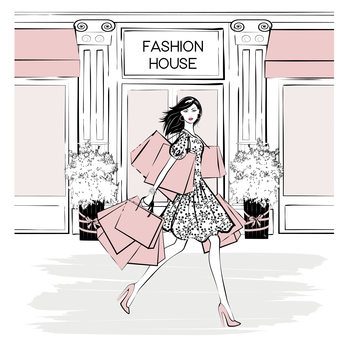 Illustration Fashion House