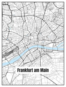 Map of Frankfurt am Main