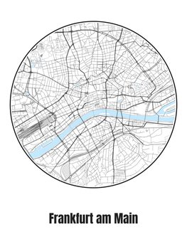 Map of Frankfurt am Main