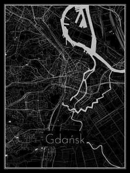 Map of Gdańsk