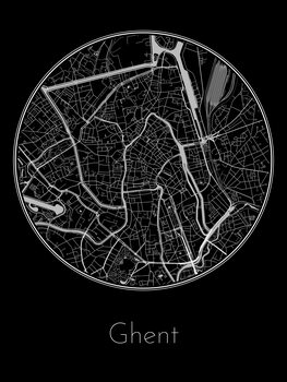 Map of Ghent