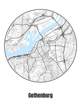 Map of Gothenburg