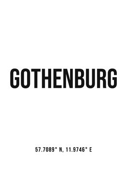 Illustration Gothenburg simple coordinates