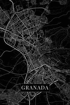Map of Granada black