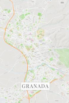Map of Granada color