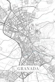 Map of Granada white