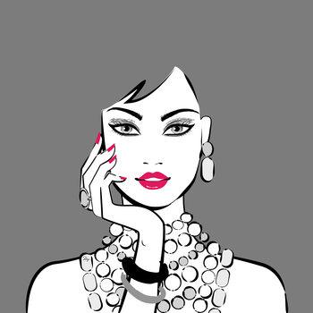 Illustration Grey Girl