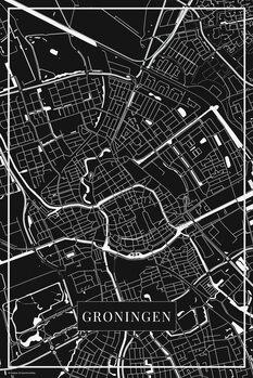 Map of Groningen black