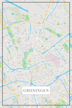 Map of Groningen color