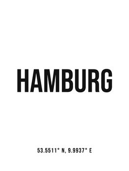 Illustration Hamburg simple coordinates