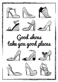 Illustration Heels Quote