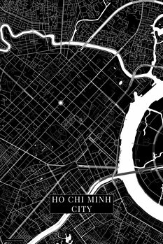 Map of Ho Chi Minh City black