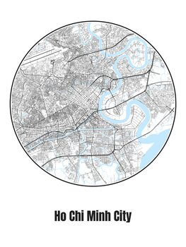 Map of Ho Chi Minh City
