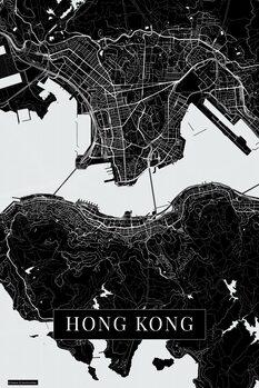 Map Hong Kong black