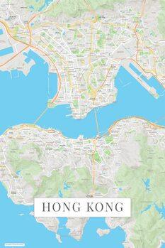 Map Hong Kong color