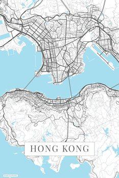 Map Hong Kong white