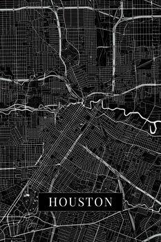 Map Houston black