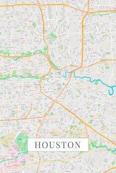 Map Houston color