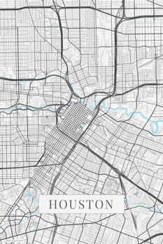 Map Houston white