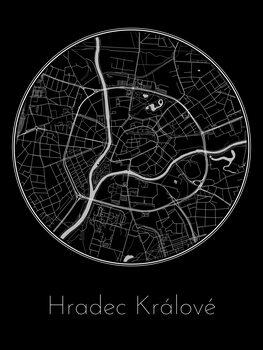 Map of Hradec Králové