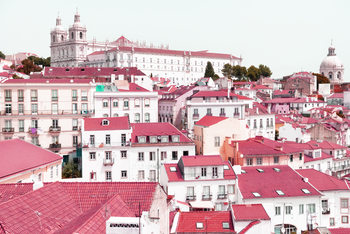 Art Print on Demand Incredible Lisbon Pink