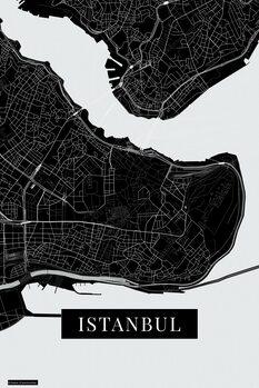Map Instanbul black