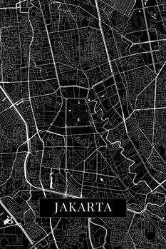 Map of Jakarta black
