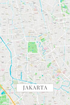 Map of Jakarta color